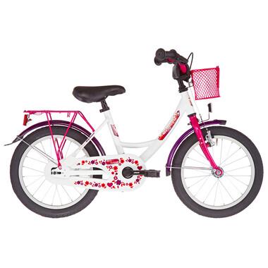 "Vélo Enfant VERMONT GIRLY 16"" Blanc/Rose 2019"
